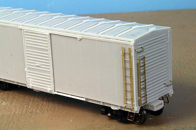 A 40-foot boxcar with our improved ladders