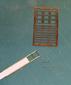 "17"" HO Scale Etched Ladder Rungs"