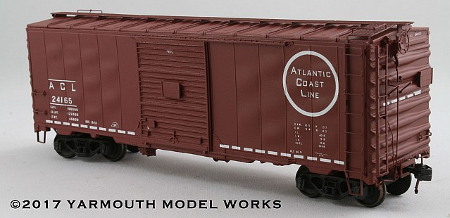 ACF Built ACL 40' 50 Ton Postwar Boxcar HO scale resin model kit