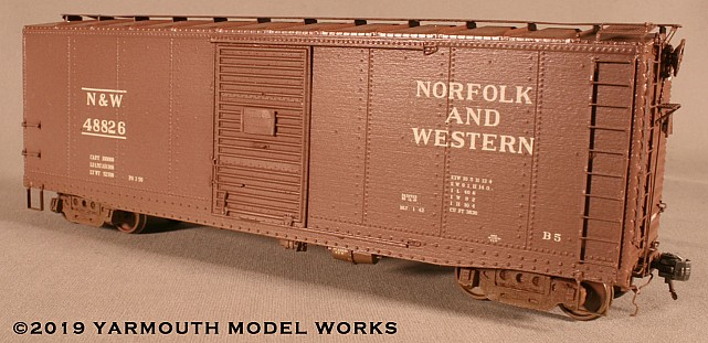 Norfolk & Western B-5 40' Boxcar, with Panel Roof HO scale resin model kit