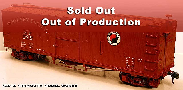 Northern Pacific 39000-series Boxcars HO scale resin model kit