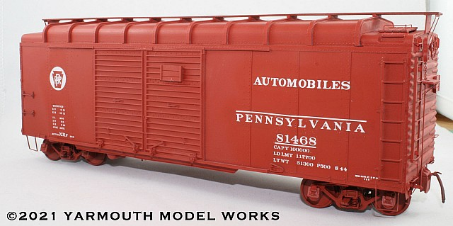 PRR X31f 40' Automobile Car HO scale resin model kit