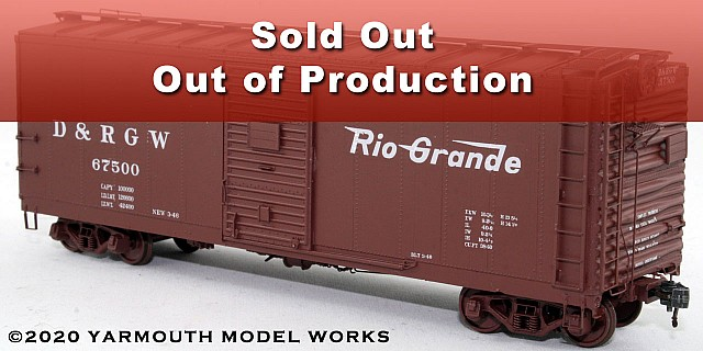 D&RGW PSC Steel Boxcar, 4/4 End, 6' Door HO scale resin model kit