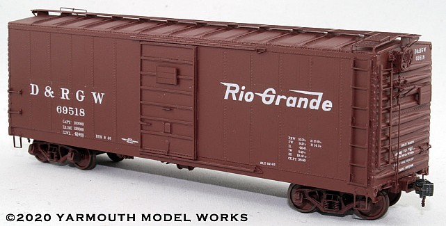 D&RGW PSC Steel Boxcar, 4/5 End, 6' Door HO scale resin model kit