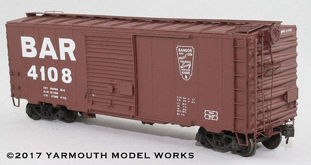 ACF Built Postwar 40' 50 Ton BAR Boxcar HO scale resin model kit