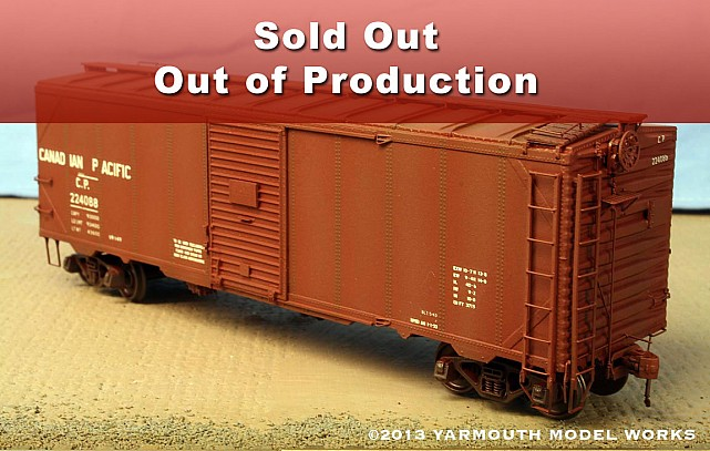 Canadian Pacific 40' War Emergency Boxcar resin model kit