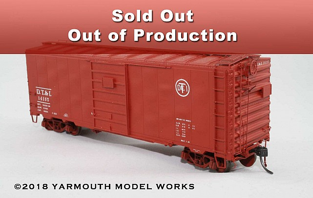 ACF Built Postwar 40' 50 Ton DT&I Boxcar HO scale resin model kit