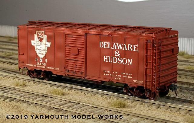 The D&H 40' 50 Ton Oneonta kit boxcar HO scale resin model kit