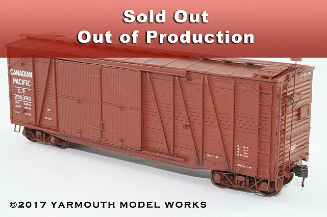 CPR 40' SS Automobile Boxcar HO scale resin model kit