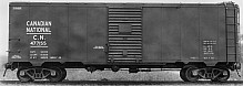 CNR '37 AAR 40' Boxcar, NSC-2 End and Flat Panel Roof