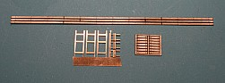 Laser cut 40' wood running board with laterals and etched brackets