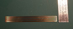 """Etched Tank Car Straps, 0.030"""" wide x 3.75"""" long"""