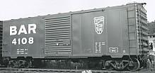 ACF Built Postwar 40' 50 Ton BAR Boxcar
