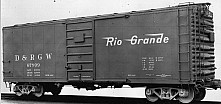 D&RGW PSC Steel Boxcar, 4/4 End, 6' Door