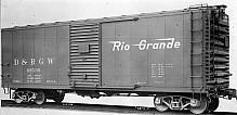 D&RGW PSC Steel Boxcar, 4/5 End, 6' Door