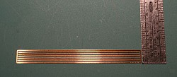 """Etched Tank Car Straps, 0.040"""" wide x 3.75"""" long"""