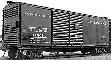 DL&W 40' Rebuilt Automobile Boxcar