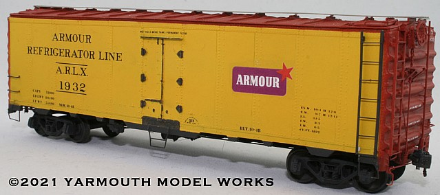 AC&F Built Armour Reefer HO scale resin model kit