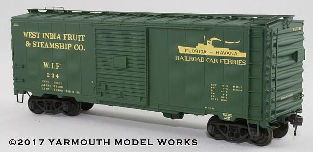 ACF Built Postwar 40' 50 Ton WIF Boxcar HO scale resin model kit