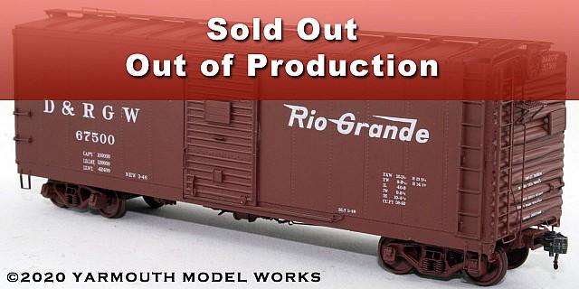 D&RGW PSC Steel Boxcar, 4/4 End, 6' Door HO scale resin model kit