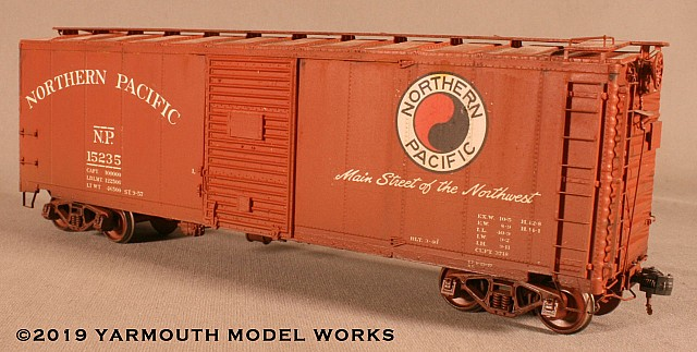 Northern Pacific Modified '37 AAR Boxcar HO scale resin model kit