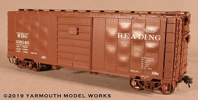 Reading ACF Built Postwar 40' 50-ton Boxcar HO scale resin model kit
