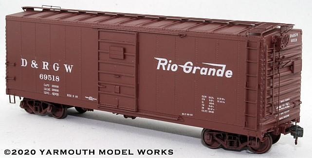 D&RGW PSC Steel Boxcar, 4/5 End, 6' Door HO scale resin model kit