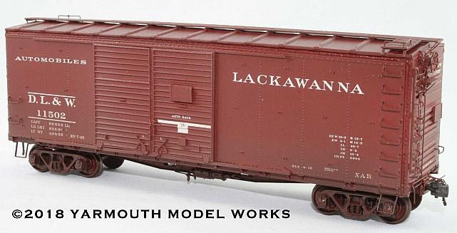 DL&W 40' Rebuilt Automobile Boxcar HO scale resin model kit