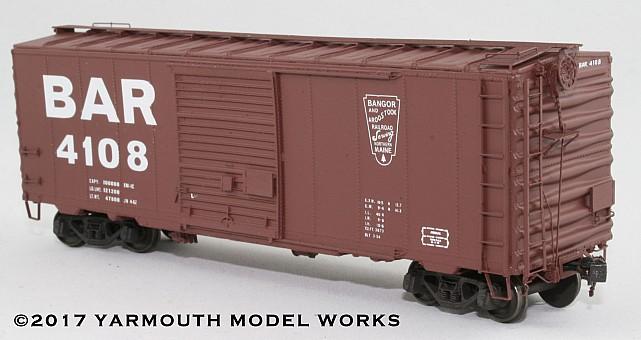 ACF Built Postwar 40' 50 Ton BAR Boxcar HO scale resin model kit