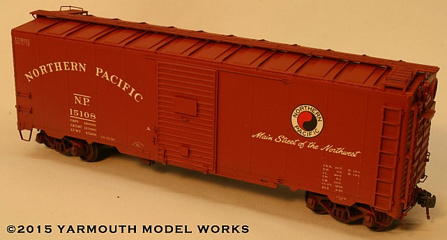 Northern Pacific 1937 AAR 40' Boxcar HO scale resin model kit