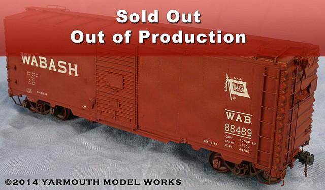 HO Scale Wabash 88200-88699 12-Panel Welded Boxcar HO scale resin model kit