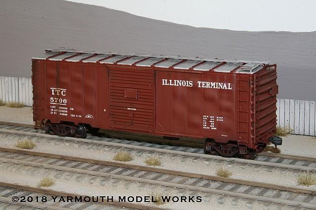 ACF Built 40' 50 ton ITC Boxcar HO scale resin model kit