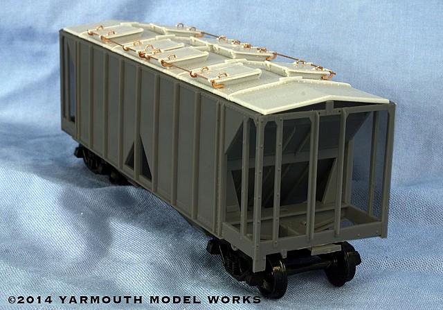 AC&F 1958 cu. ft. Covered Hopper Roof Type 3 HO scale hopper roof kit
