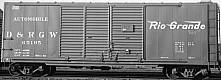 D&RGW PSC Steel Boxcar 15' Door Autocar